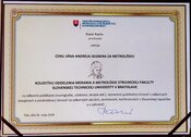"Ocenenie ""Najleší metrológ SR"" získal prof. Ing. Rudolf Palenčár, CSc."
