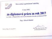 Cena SSÚ - Najlepšia diplomová práca je zo SjF!